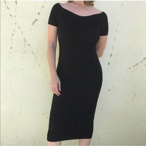 Dresses & Skirts - Sexy BLACK STRETCH DRESS ruched bodycon tube M new